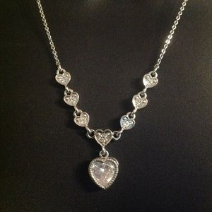 Stunning Crystal Hearts Necklace